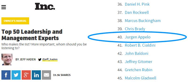 Top 50 Leadership Experts