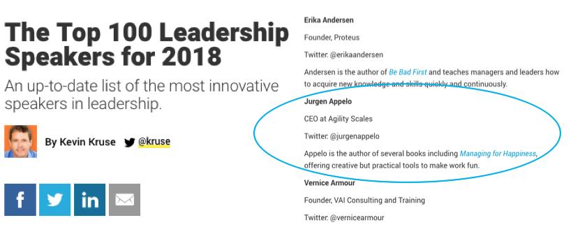 100 Top Leadership Speakers